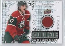 2010 Upper Deck Rookie Materials Jersey #RM-CW Casey Wellman Minnesota Wild Card