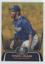2012 Bowman Platinum Prospects Gold Refractor #BPP22 Rymer Liriano Baseball Card
