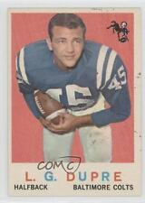1959 Topps #163 LG Dupre Baltimore Colts Indianapolis L.G. Football Card