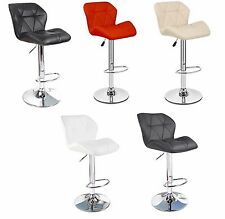 Modern Padded Swivelling PU Leather Kitchen Breakfast Bar Stools NEW