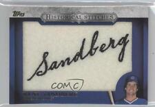 2012 Topps Manufactured Historical Stitches #HS-RS Ryne Sandberg Chicago Cubs