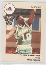 1989-90 ProCards CBA 102 Leroy Witherspoon Albany Patroons (CBA) Basketball Card