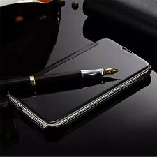 New Luxury Mirror View Flip Plated PC Leather Cover Case For iPhone/Samsung/LG R