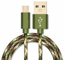 2M 3M Camouflage Micro USB Data &Sync Charger Charging Cable For Samsung Android