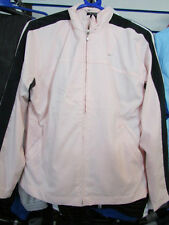 SIZE SMALL - APPROX LADIES 10 - NIKE FULL ZIP WOMENS TRACKSUIT - PINK / BLACK