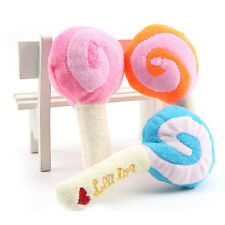 Plush Lollipop Toys for Baby & Pet Sounding Squeaky Toy Dog Chew Toys Squeaker