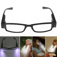 Rimmed Reading Eye Glasses Eyeglasses Spectacal With LED Light For Elders Gift