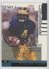 2002 SAGE Hit Rarefied Silver R4 Marquise Walker Michigan Wolverines Rookie Card
