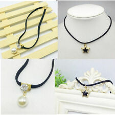 Clavicle Waves Short Chain Necklace Choker lace Fashion Elegant Pearl New