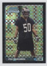 2003 Bowman Chrome X-Fractor #208 Pisa Tinoisamoa St. Louis Rams Football Card
