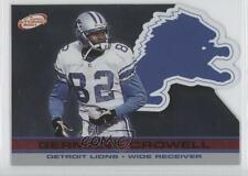 2001 Pacific Prism Atomic Red Non-Numbered 49 Germane Crowell Detroit Lions Card