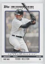 2009 Topps Ticket To Stardom Perforated #136 Todd Helton Colorado Rockies Card