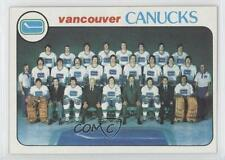 1978-79 Topps #207 Vancouver Canucks Team Hockey Card
