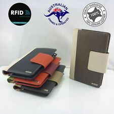 RFID Genuine Leather Women's Large Travel Zip Wallet Clutch Bag Passport Purse