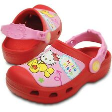 Crocs Hello Kitty Plane Clogs - Red - Croslite