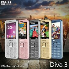 "BLU Diva 3 2.4"" T410 2G Phone Dual SIM Factory Unlocked GSM Multi Colors New"