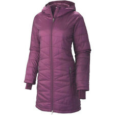 COLUMBIA WOMENS S-M-L-XL MORNING LIGHT HOODED LONG OMNI HEAT INSULATED JACKET