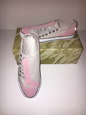 MAHARISHI WOMENS ASYM SUEDE AND CANVAS DAY SHOES IN DUSTY PINK & STONE!!!!!
