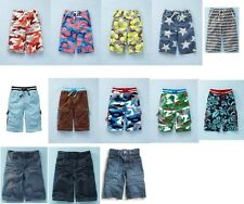 NEW Mini Boden LONG BOARD SHORTS inner adjustable waist BOYS summer 5 6 7 8 9 10