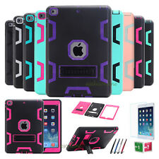 Hybrid Heavy Duty High Impact Shockproof Stand Case Cover For Apple iPad Series