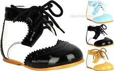 Childrens Baby Boys Formal Shoes Lace Up Wedding Page Boy Christening Kids Shoes