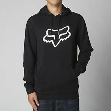 FOX RACING BLACK WHITE LEGACY FOXHEAD PULLOVER FLEECE HOODIE HOODY MENS ADULT