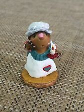 Wee Forest Folk - WFF Candlelight Search Mole Teal Dress Retired