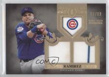 2011 Topps Tier One Top Shelf Relics Dual TSR12 Aramis Ramirez Chicago Cubs Card