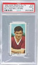 1958 Kane International Football Stars #14 Jackie Blanchflower PSA 9 Soccer Card