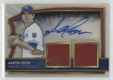 2011 Topps Finest Refractor Rookie Autographed Dual Relics #96 Aaron Crow Auto