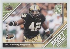 2009 Upper Deck Draft Edition Green #65 Anthony Heygood Purdue Boilermakers Card
