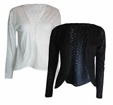 NEW ex Chainstore Floral Design Open Cardigan in Black or White