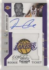2010-11 Playoff Contenders Patches #149 Derrick Caracter Los Angeles Lakers Auto