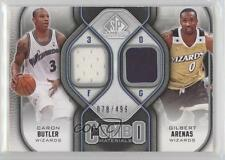 2009-10 SP Game Used Combo Materials #CM-AB Caron Butler Gilbert Arenas Card
