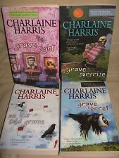 "CHARLAINE HARRIS Harper Connelly COMPLETE "" GRAVE "" SERIES 4 Pb LOT sight secret"