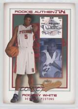2001 Fleer Authentix #108 Rodney White Detroit Pistons RC Rookie Basketball Card