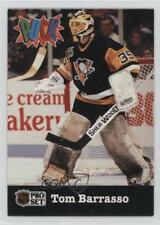 1991-92 Pro Set Puck #22 Tom Barrasso Pittsburgh Penguins Hockey Card