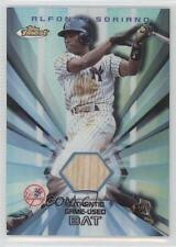 2002 Topps Finest Bat Relics #FRB-RS Alfonso Soriano New York Yankees Card