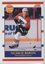 1990-91 Score Bilingual #399 Murray Baron Philadelphia Flyers Rookie Hockey Card