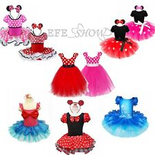 Minnie Mouse Girl Princess Bow Dress Toddler Baby Wedding Party kids Dress Up