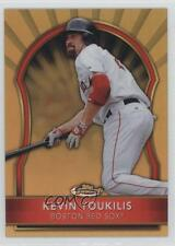2011 Topps Finest Gold Refractor #53 Kevin Youkilis Boston Red Sox Baseball Card