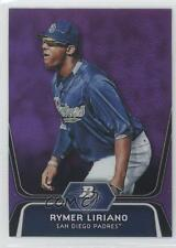 2012 Bowman Platinum Prospects Retail Purple Refractor #BPP22 Rymer Liriano Card