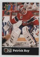 1991-92 Pro Set Puck #14 Patrick Roy Montreal Canadiens Hockey Card