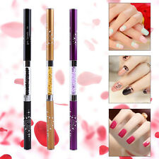Nail Art Tips UV Gel Crystal Acrylic Painting Drawing Pen Polish Brush Pen ES