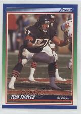 1990 Score #382 Tom Thayer Chicago Bears RC Rookie Football Card