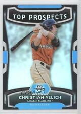 2012 Bowman Platinum Top Prospects #TP-CY Christian Yelich Miami Marlins Card