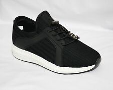 NEW LADIES BLACK RUNNING TRAINERS  FITNESS GYM SPORT SIZE 3-8