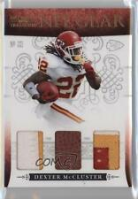 2010 Playoff National Treasures NFL Gear Trios Prime #34 Dexter McCluster Card