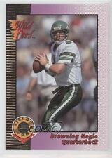 1992 Wild Card Field Force Gold #16 Browning Nagle New York Jets Football