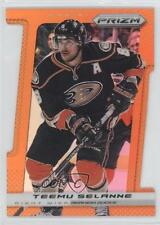 2013-14 Panini Prizm Orange Die-Cut #112 Teemu Selanne Hockey Card
